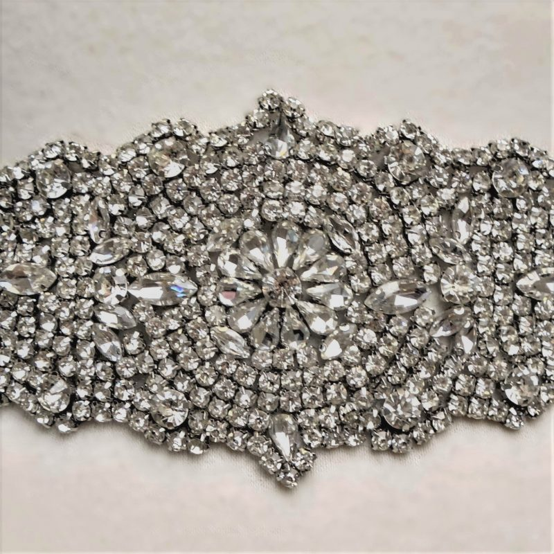Antique Rhinestone Bridal Belt