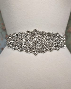 Antiqued Rhinestone Bridal Belt