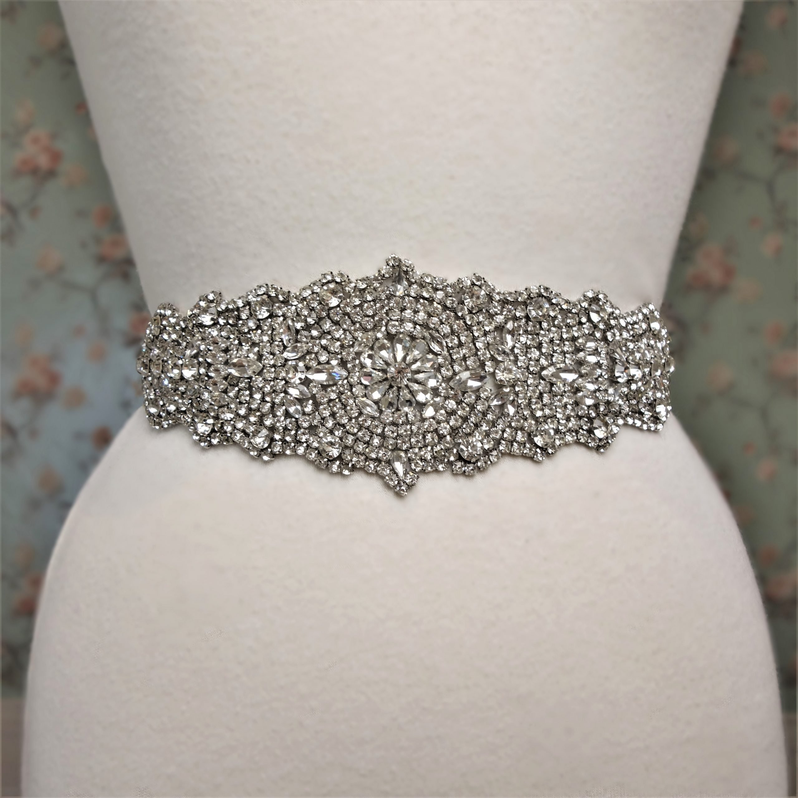 Antique Rhinestone Belt