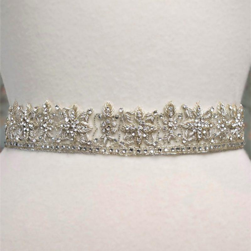 Antiqued Silver Bridal Belt