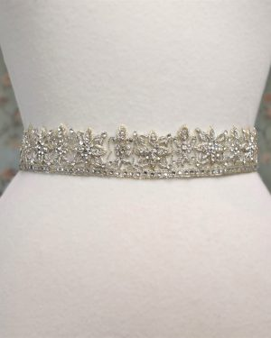 Beaded Diamante Bridal Belt