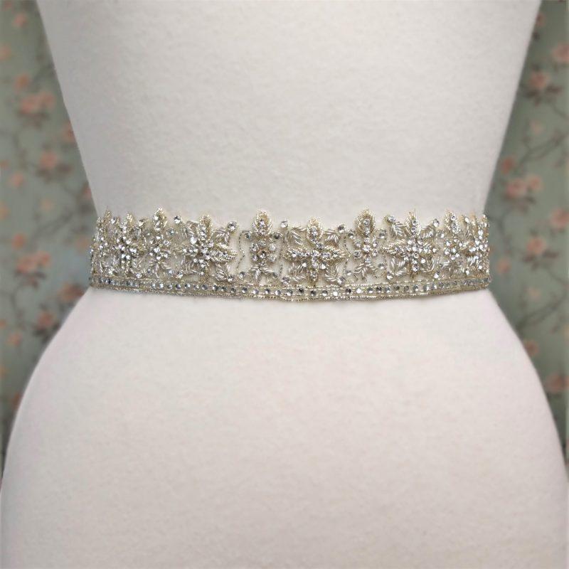 Beaded Diamante Bridal Belt