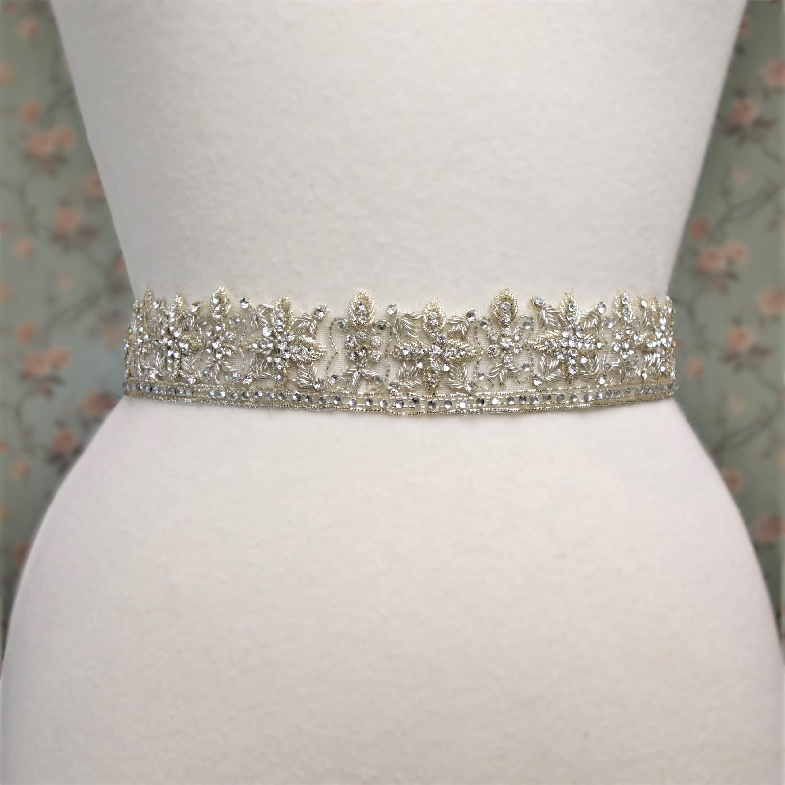 Antiqued Silver Bridal Belt