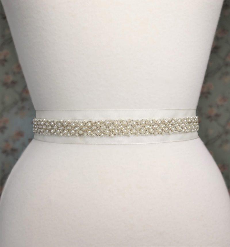 Beaded Pearl Bridal Belt