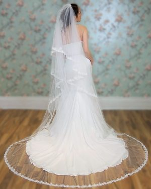 Claddagh Two Tier Lace Veil