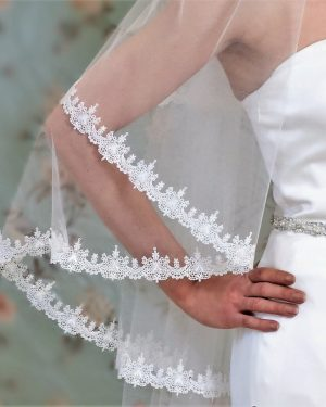 Claddagh Two Tier Pale Ivory Bridal Veil