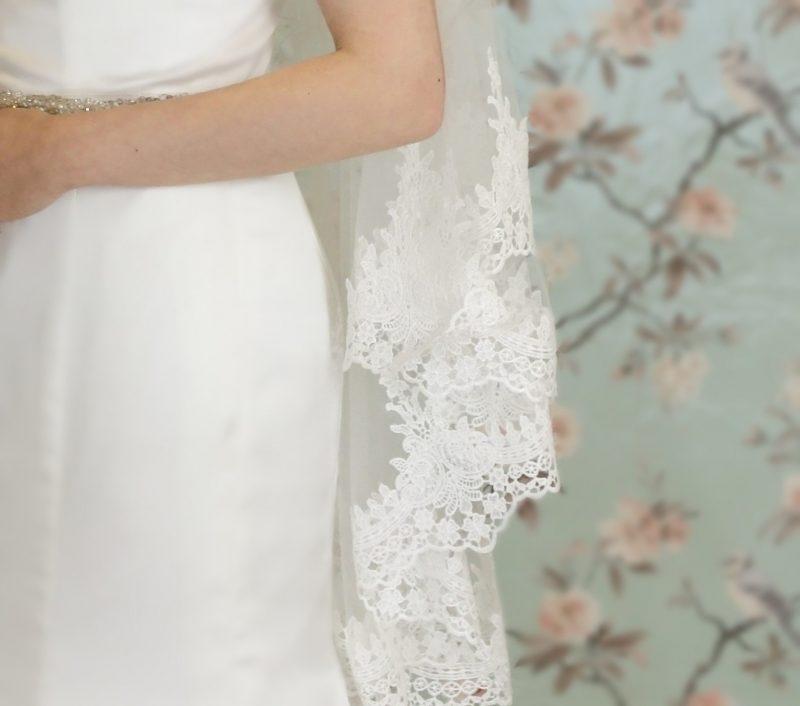 Clover lace bridal veil