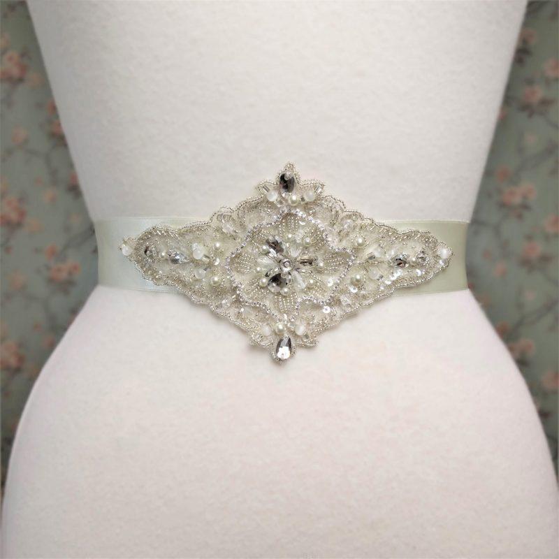 Beaded Lace Bridal Belt