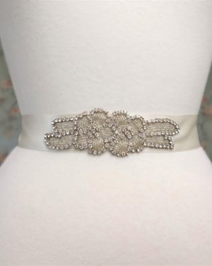 Rhinestone Roses Bridal Belt