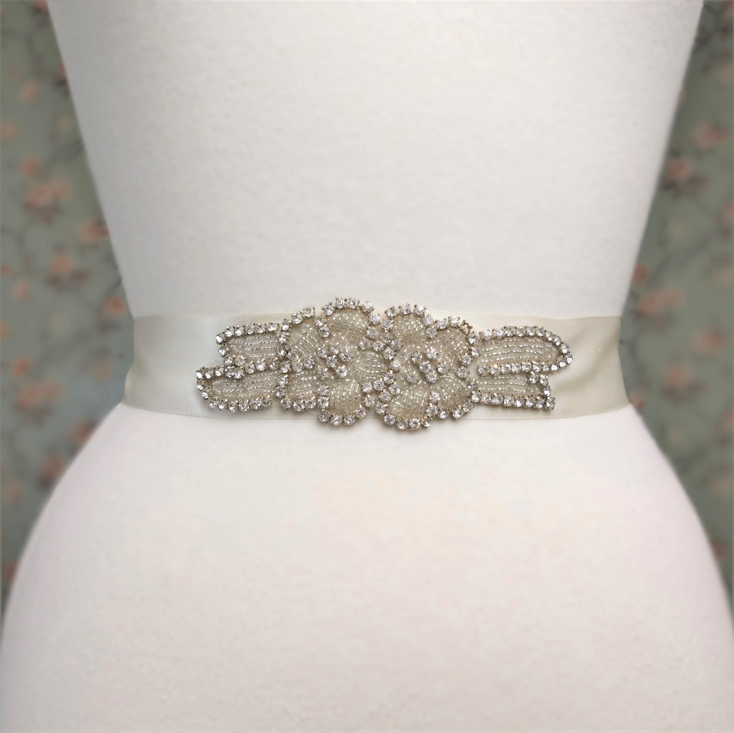 Double rose Rhinestone Belt