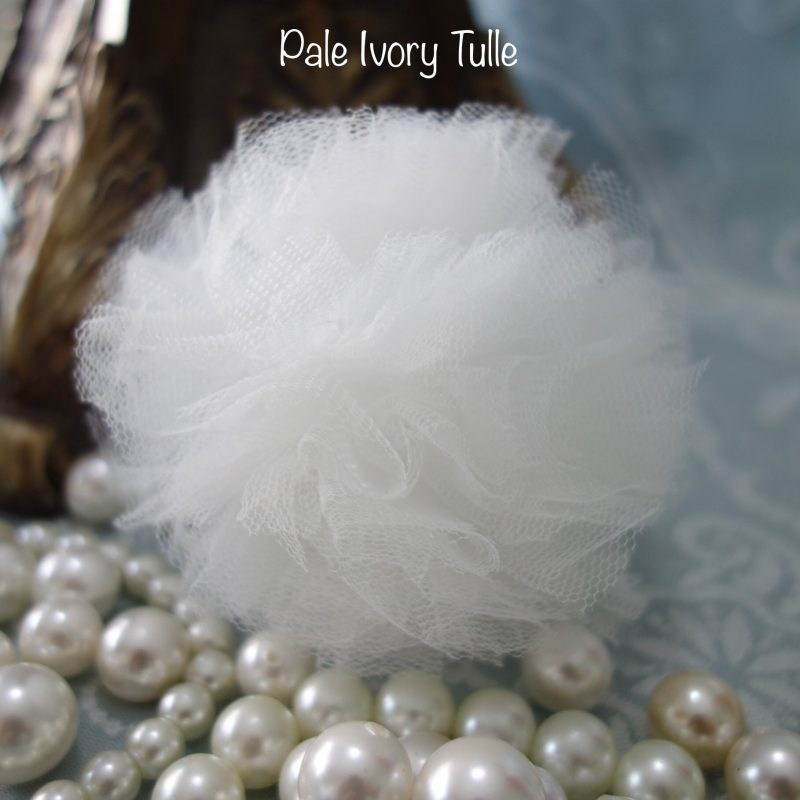 Pale ivory tulle