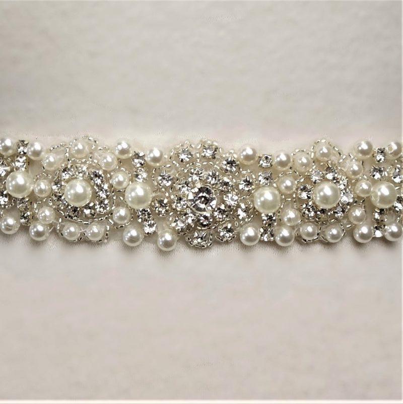 Pearl Cluster Bridal Belt
