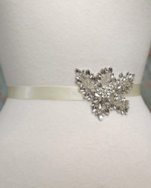 Embellished Leaf Bridal Belt