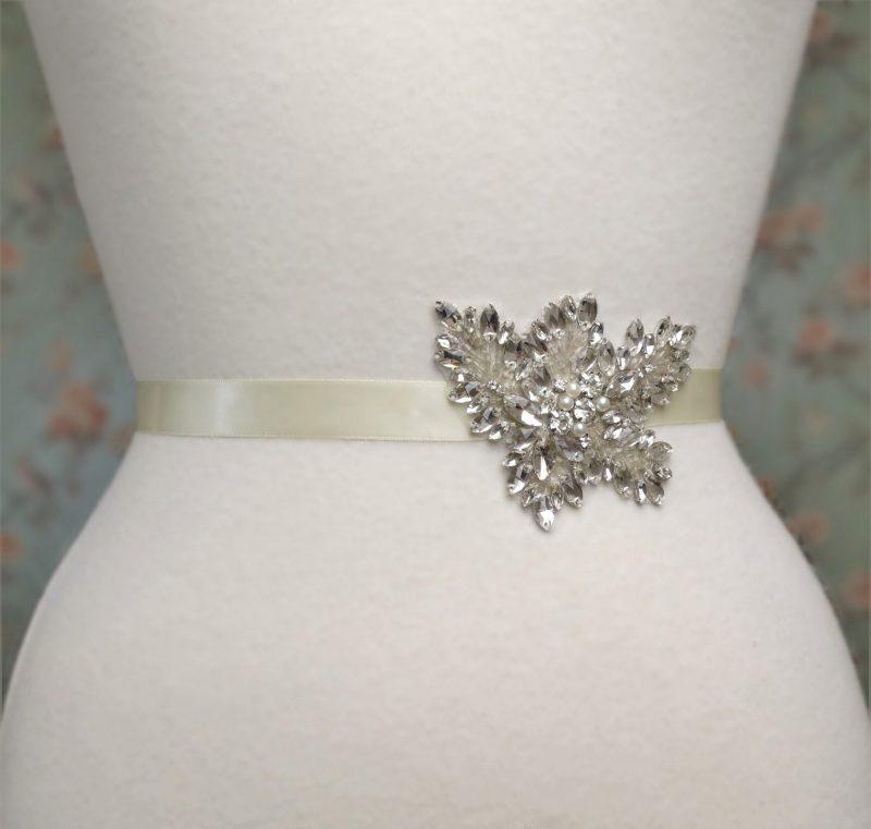 Embellished Leaf Bridal Belt