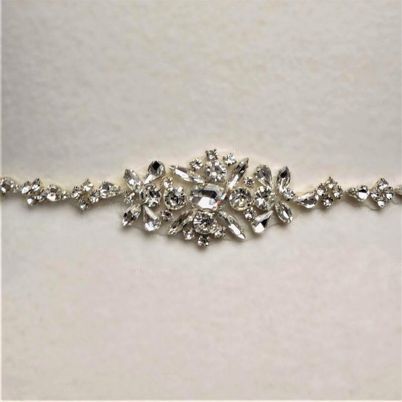Rhinestone Cluster Bridal Belt