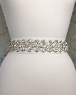 Rhinestone Hearts Bridal Belt