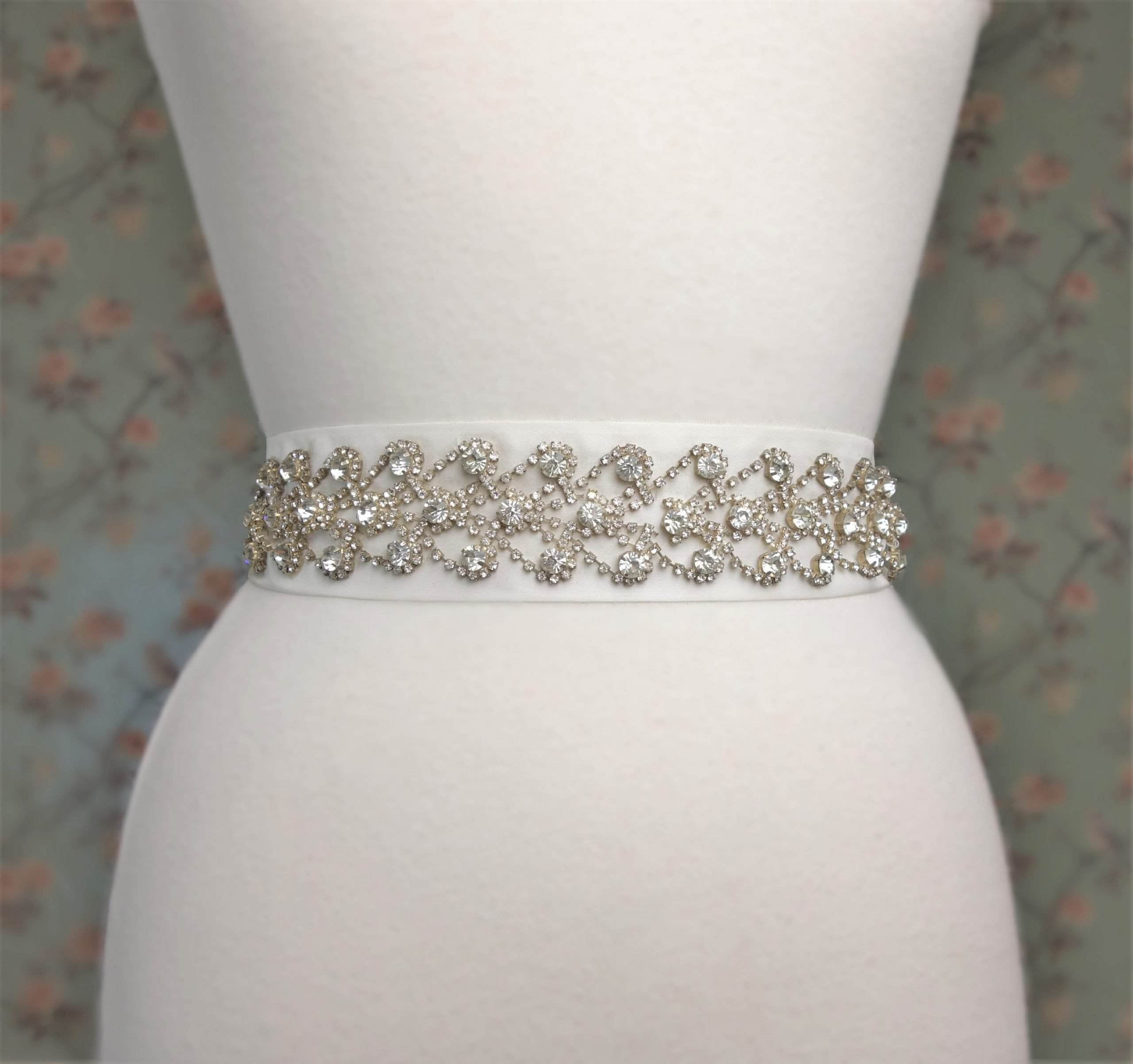 Rhinestone Hearts Belt