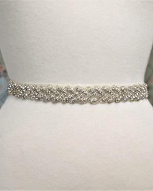 Rhinestone Knot Bridal Belt