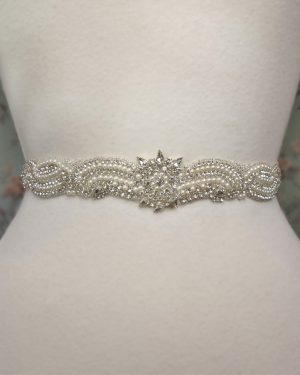 Venus beaded Pearl Belt