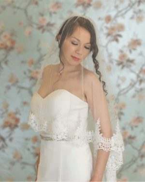 Clover Two Tier Lace Veil