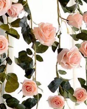 Peachy Pink rose garland