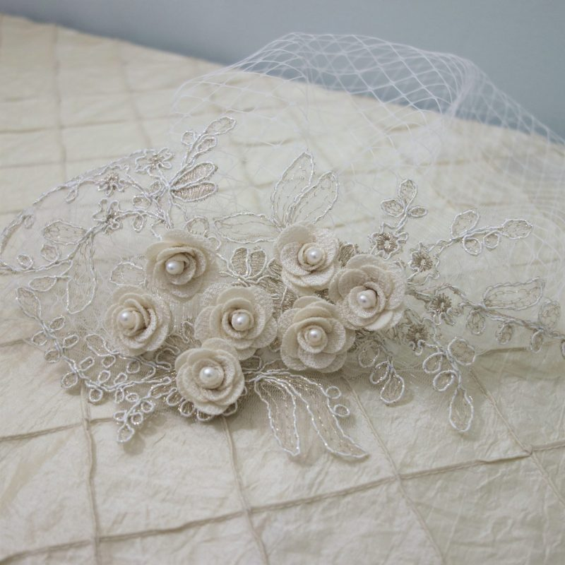 Pearls & Lace Birdcage Veil