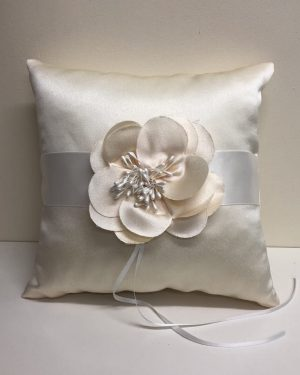 Champagne Flower Ring Cushion