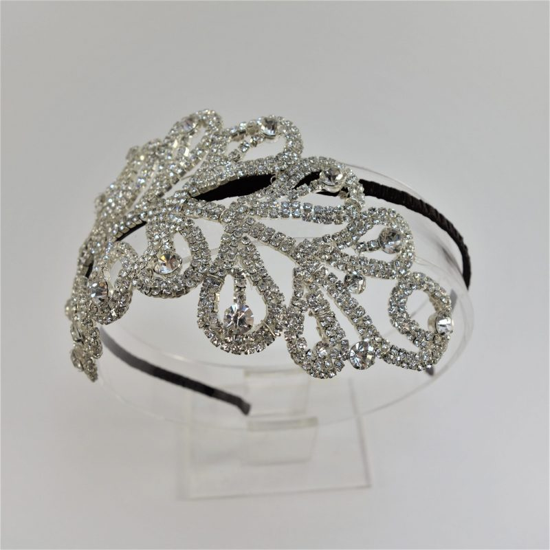 Grande Diamante Plume Headpiece