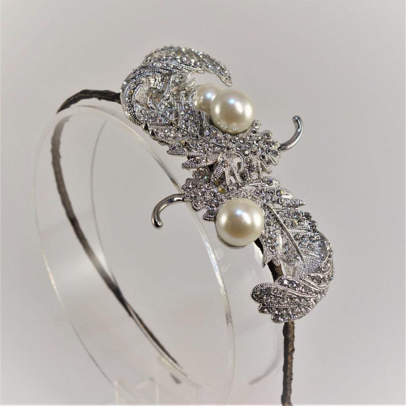 Vintage Plume Bridal Headpiece