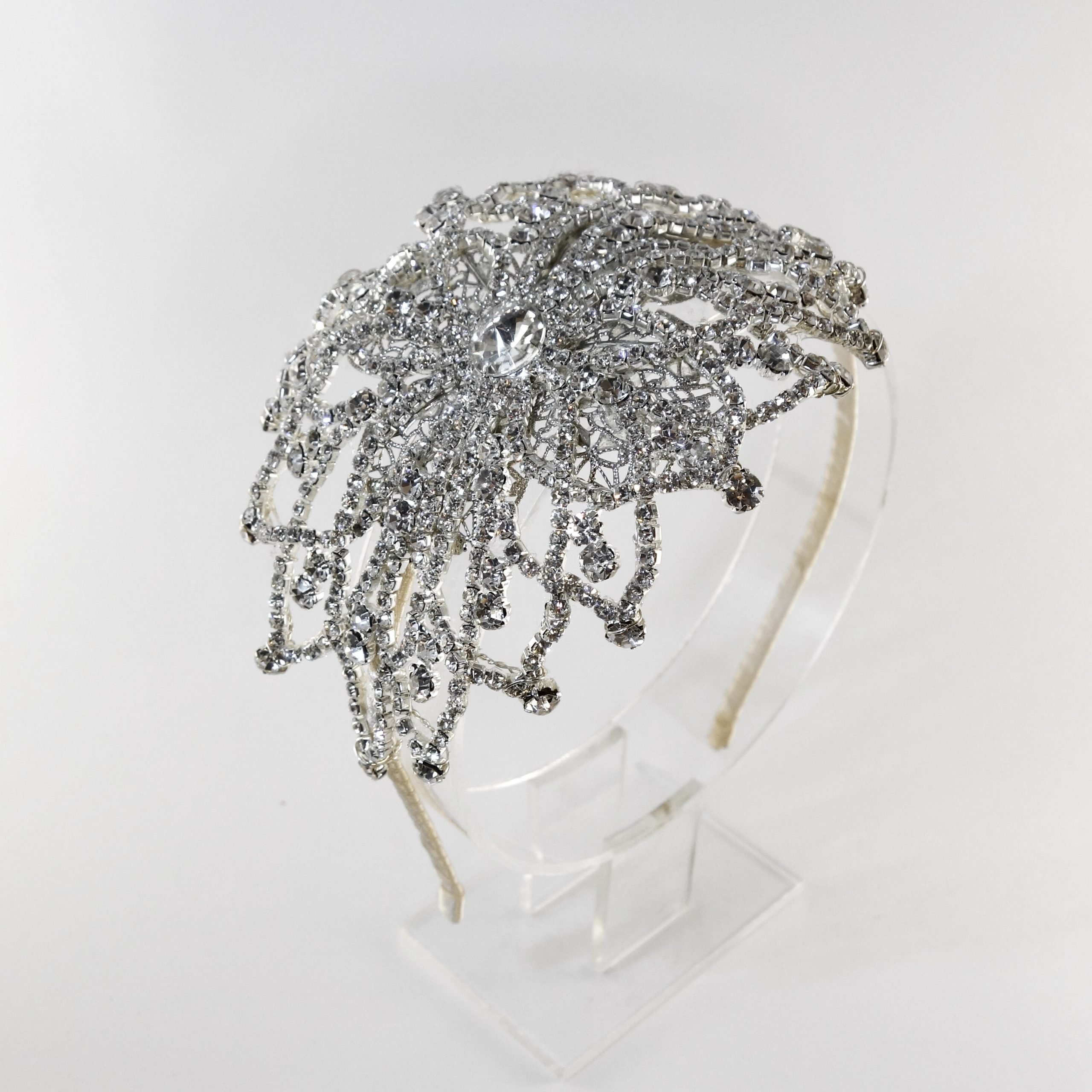Vintage Crystal Headpiece Blonde