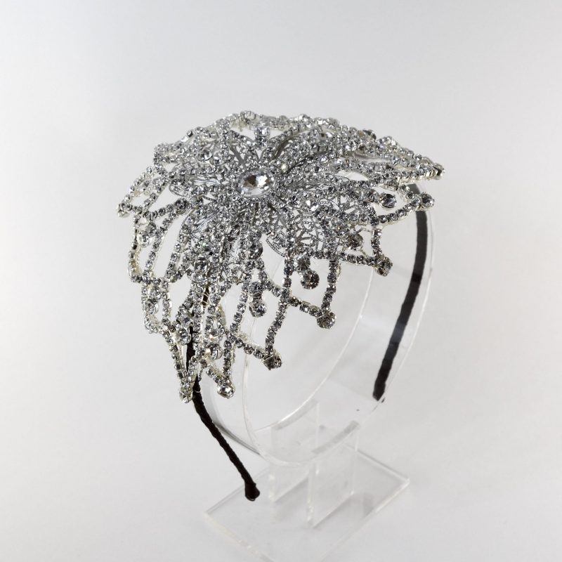 Vintage Crystal Headpiece Brunette
