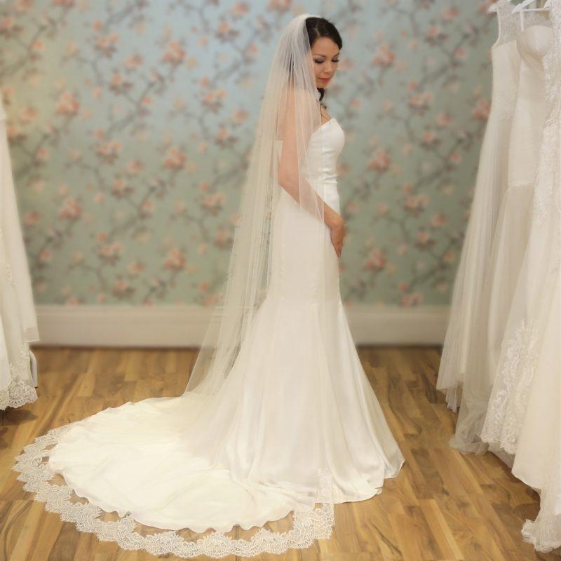 Stella Chantilly Lace Bridal Veil