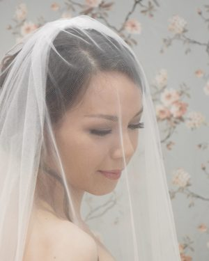 Two Tier Plain Edge bridal veil