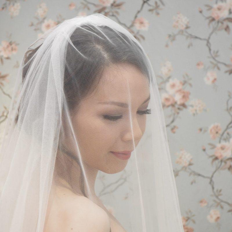 Two Tier Plain Edge bridal veil