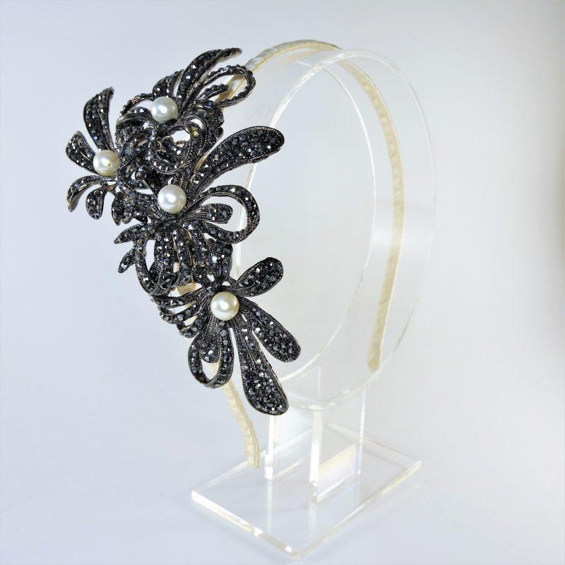 Midnight Flower Headpiece