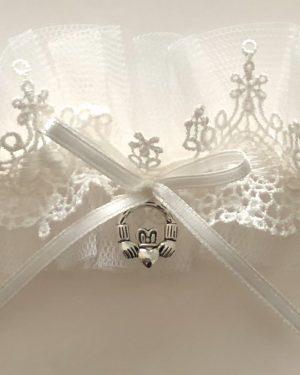 Claddagh Lace Bridal Garter