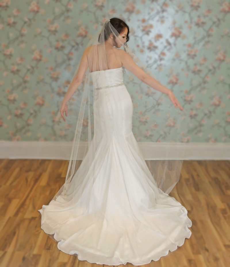 Embellished bridal veil