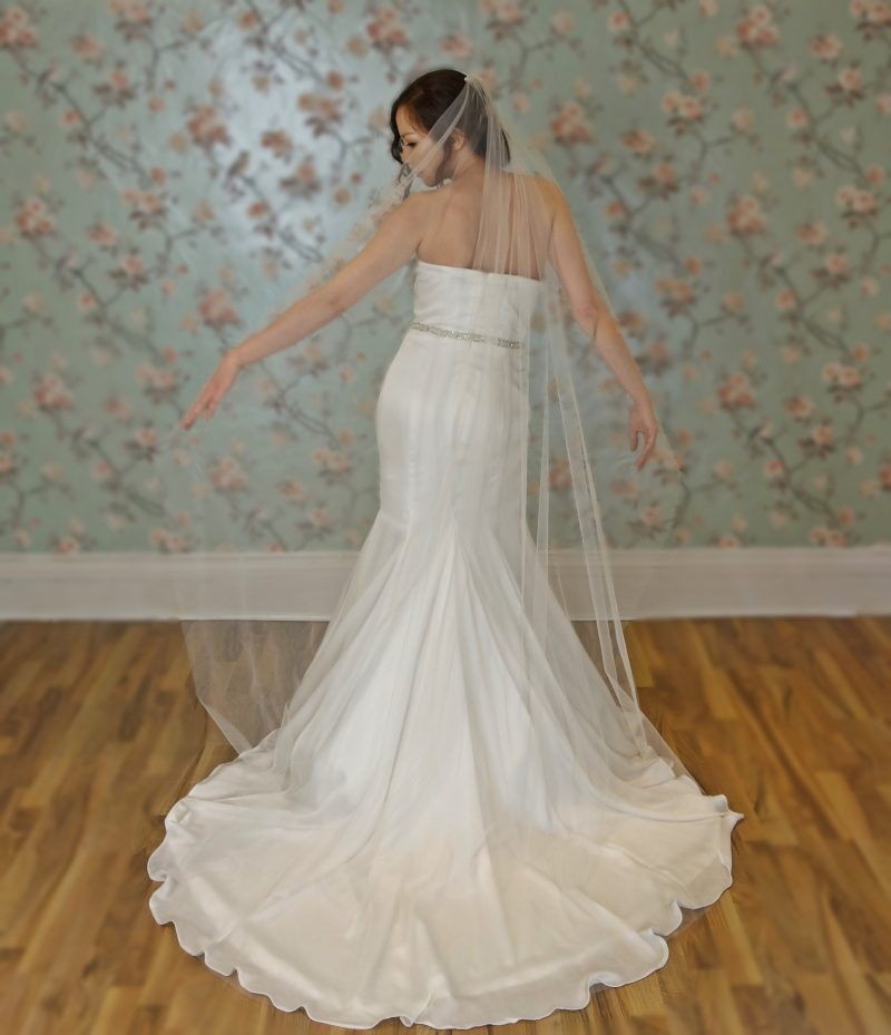 Sheer Plain Edge Veil