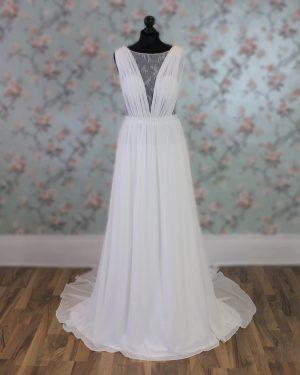 Chiffon and Lace Wedding Dress