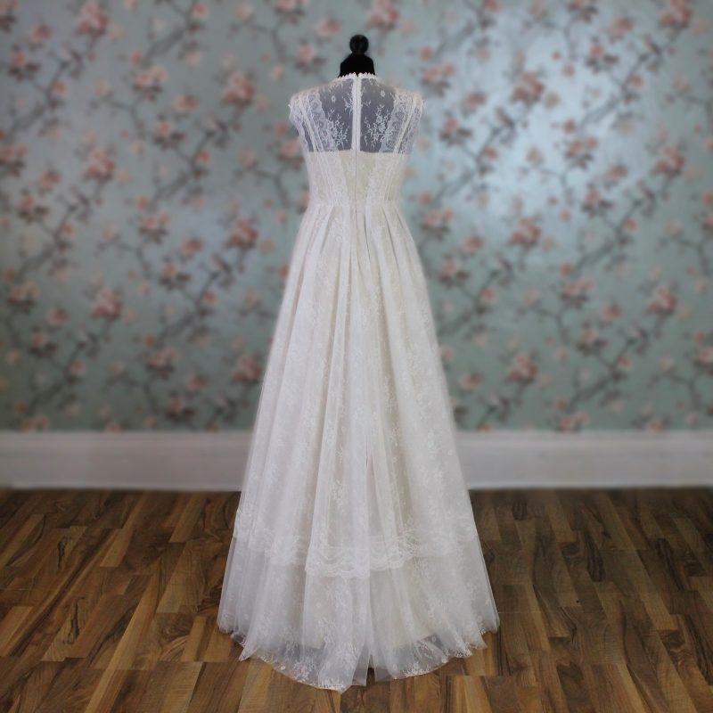 Boho Lace Wedding Dress Back