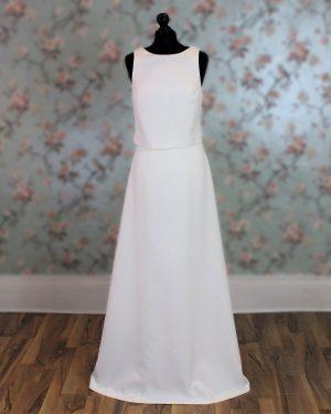 2 Piece Open Back Wedding Dress