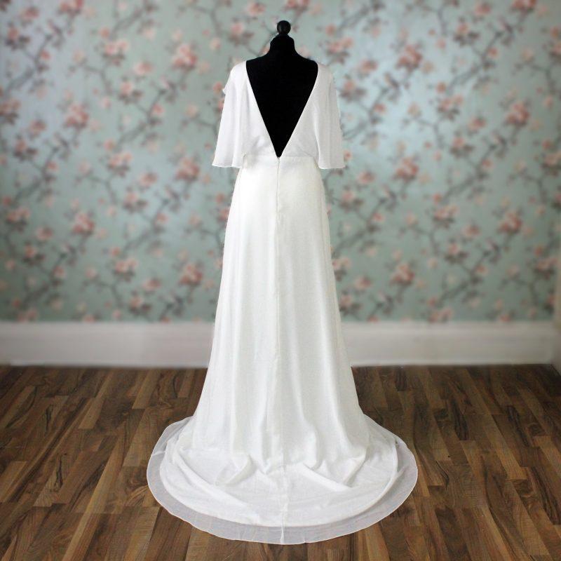 Chiffon Wedding Dress Back