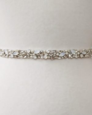 Opal Rhinestone Bridal Belt