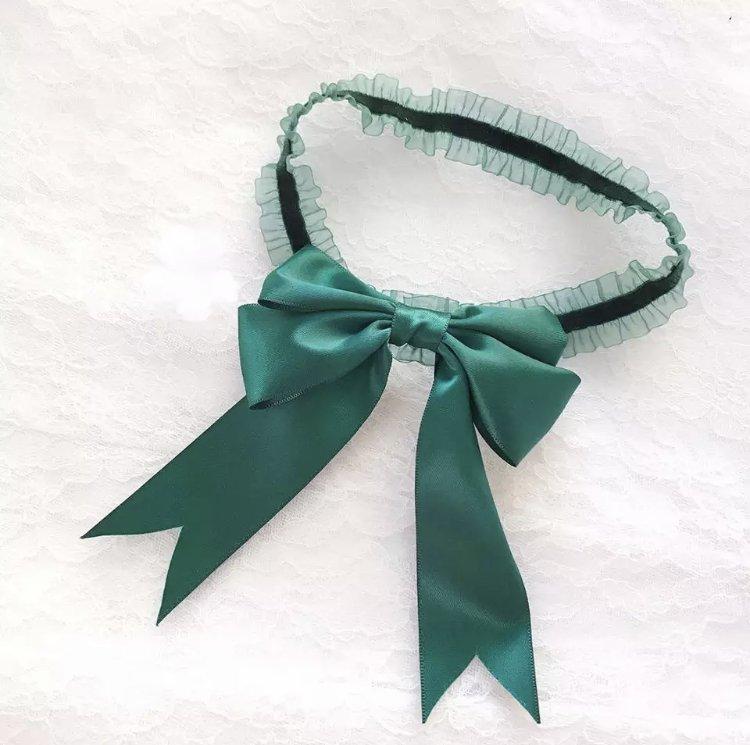 Emerald Green Bow Garter