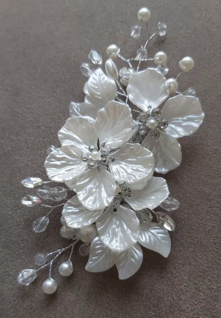 Ivory Flower Bridal Hair Clip